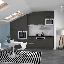 cuisine bleu pastel cuisine grise porte effet touch ginko gris mat