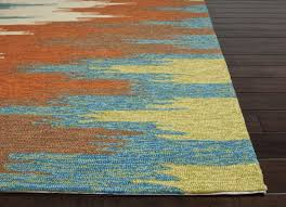 Modern Orange Rug Furniture Manzon Area Outdoor Rug 8 Inchi X11 2 And Quot Blue