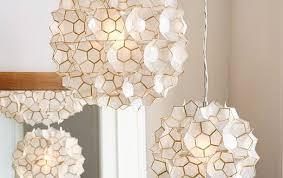 west elm ceiling light flower pendant light modern capiz west elm inside 1