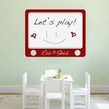 etch and sketch dry erase wall decal dry erase decals