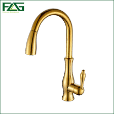 gold kitchen faucet flg free shipping pull out spray gold kitchen faucet and cold