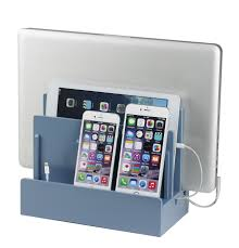 Smartphone Charging Station High Gloss Multi Device Charging Station And Dock With Usb Power