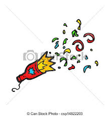 party poppers party popper vector clipart search illustration