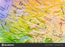 Map Of Canada Geographic Map Of Canada State Quebec With Important Cities