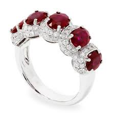 ruby band oval ruby band with diamonds in 18kt white gold 3 16ctw once