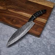 handmade damascus kitchen knife kch 24 evermade traders