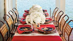 Fourth Of July Tablecloths by A Patriotic Table Setting Southern Living