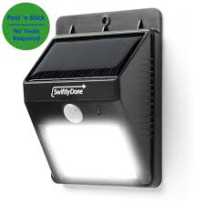 swiftly done bright solar power outdoor led light no