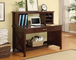 amazon com office star adeline desk and hutch with mocha finish