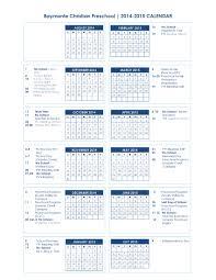sle preschool calendar