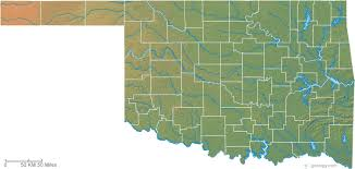 map of oklahoma oklahoma physical map and oklahoma topographic map