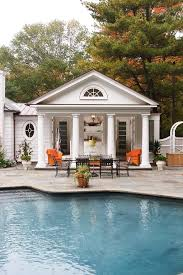 Pool Houses And Cabanas Rectangle House Pool Traditional With Detached Guest House
