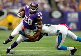 adrian peterson on decision to play any bad i try to take