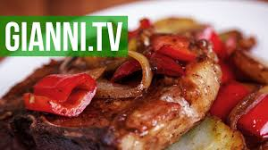pork chops with peppers onions u0026 potatoes italian recipe