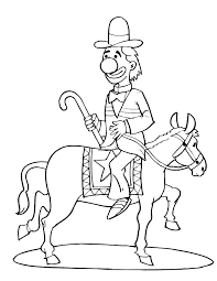 horse coloring clown pony