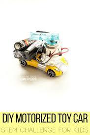 diy motorized toy car stem challenge for kids electrical