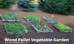 diy pallet veggie garden wood pallet vegetable garden home