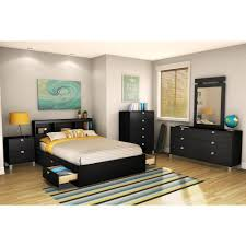 full size bookcase headboard south shore spark full size bookcase headboard in pure black 3270093