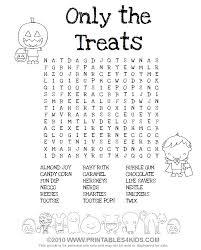 halloween treats word printables kids u2013 free word