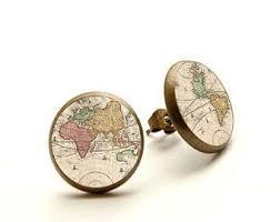 earrings world world map earrings post earth stud earrings simple earrings