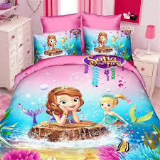 disney mermaid sofia princess girls bedding set duvet cover bed