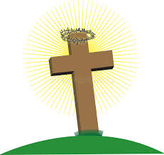 cross with crown of thorns stock illustration illustration of