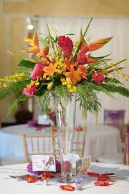 tropical themed wedding best 25 tropical centerpieces ideas on luau wedding