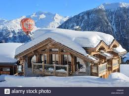 exterior of chalet louise mountain house louise in french alpes