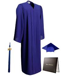 blue cap and gown matte royal blue cap gown tassel diploma cover package