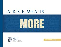 rice mba full time admissions brochure by rice business issuu