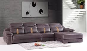 Brown Leather L Shaped Sofa L Shaped Brown Leather Chaise With Adjustable Back Of