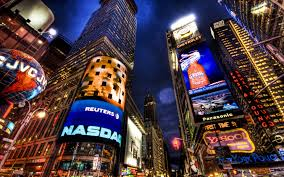 Modern City Cityscapes Urban Buildings New York City Times Square Modern