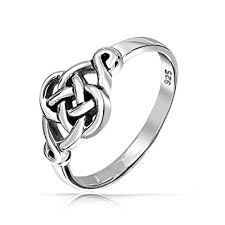 celtic knot ring cut out celtic knot sterling silver ring