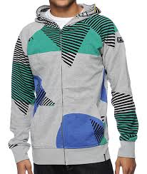 volcom vacation grey zip mask hoodie zumiez