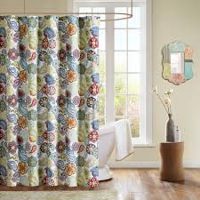 Brown And Teal Shower Curtain by Home Essence Apartment Tula Shower Curtain Walmart Com