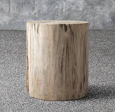 Petrified Wood Bench Wood Outdoor Round Side Table