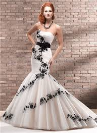 black lace wedding dresses trumpet mermaid strapless chagne black lace wedding dress with