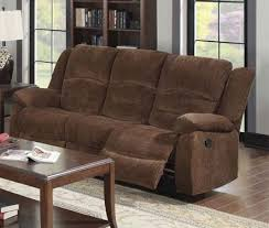 Chenille Reclining Sofa Brown Chenille Reclining Sofa By Acme 51025