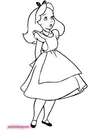 alice wonderland coloring pages disney coloring book