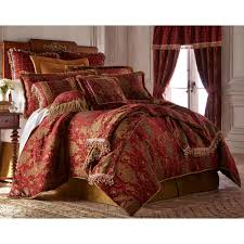 Cal King Comforter Set Austin Horn Collection China Art Red 4 Piece California King