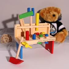 Boys Wooden Tool Bench Buy Personalised Wooden Toys Online Giftsonline4u
