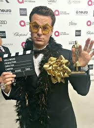 Elton John Halloween Costume Oscar Party Photos Video Bellamy Young Jonathan Groff