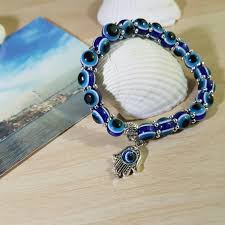 handmade charm bracelet images Handmade evil eye glass beads hamsa charm bracelet project yourself jpg