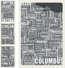 Columbus Ohio Map by Ohio Typography Graphic Shade