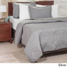windsor home solid embossed 3 piece quilt set on sale free