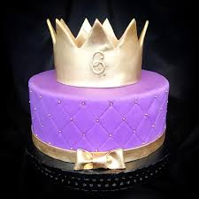 another quilted crown cake this time in purple custom cake