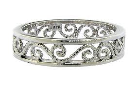 filigree wedding band metal wedding bands with engraving or filigree no stones weddingbee