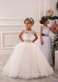 latest children frocks lace long a line flower dresses