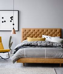 Wood Leather Headboard by Best 25 Leather Bed Ideas On Pinterest Leather Headboard