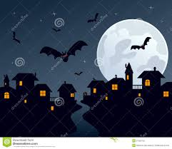 halloween scene clipart halloween night town scene illustration 21322703 megapixl